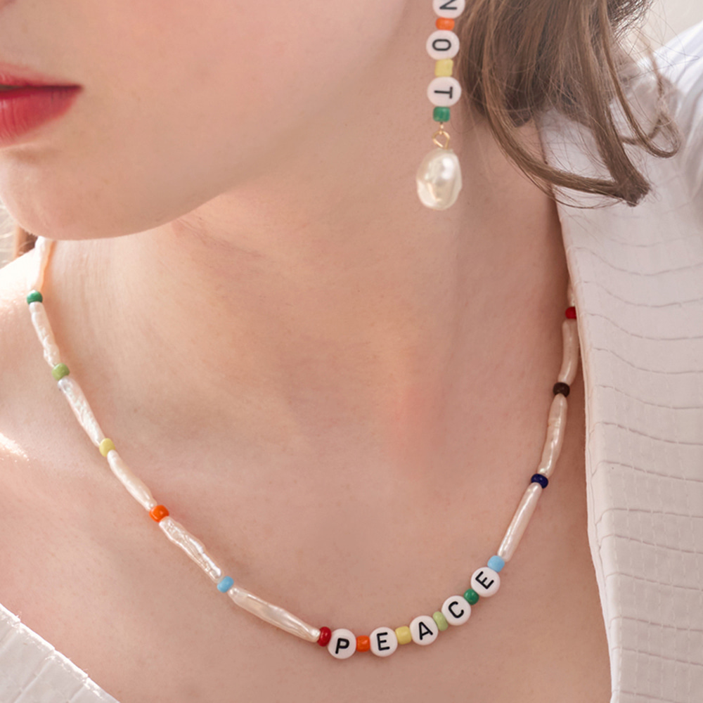 Baroque Pearl mix Necklace-10%Sale